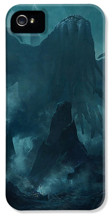 Lovecraft IPhone 5 Case featuring the painting I Am Providence by Guillem H Pongiluppi