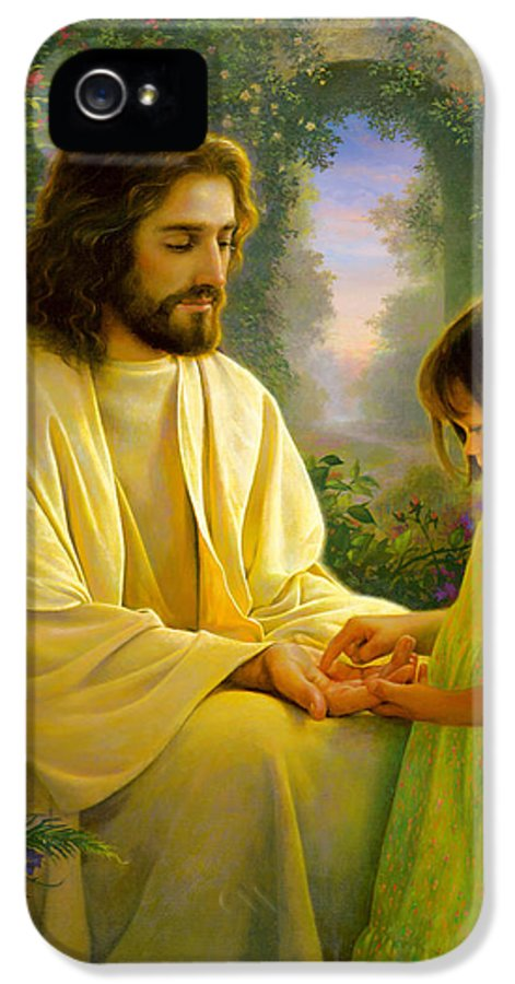Savior IPhone 5 Case featuring the painting I Feel My Savior's Love by Greg Olsen