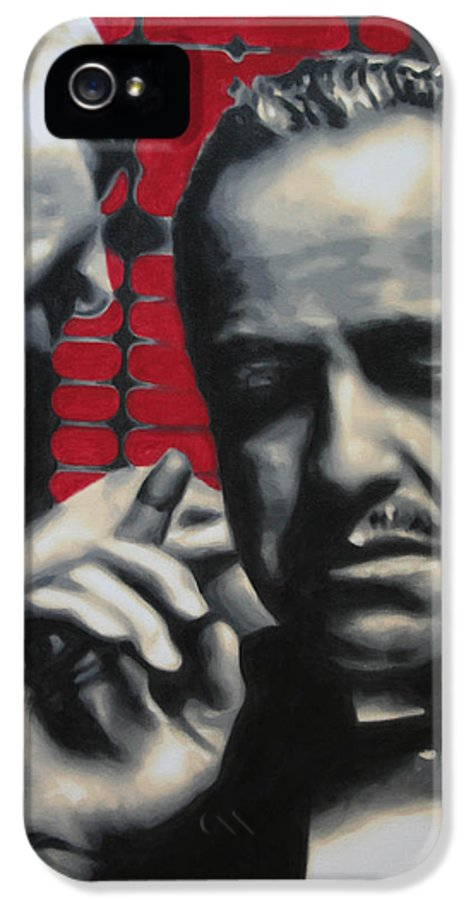 The Godfather IPhone 5 Case featuring the painting I Want You To Kill Him 2013 by Luis Ludzska