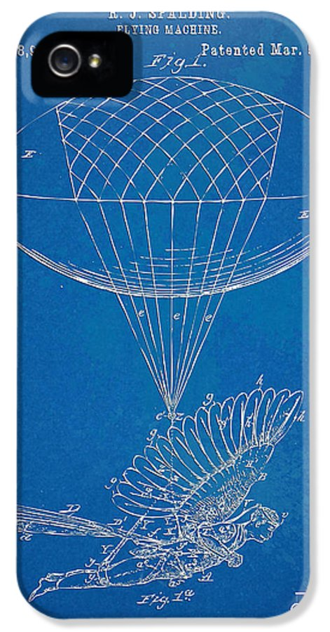 Patent IPhone 5 Case featuring the digital art Icarus Airborn Patent Artwork by Nikki Marie Smith