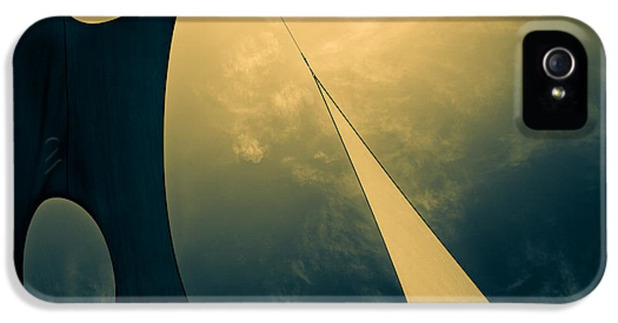 Abstract IPhone 5 Case featuring the photograph Icarus Journey To The Sun by Bob Orsillo