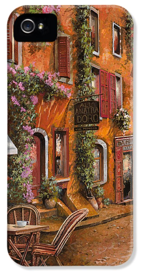 Cityscape IPhone 5 Case featuring the painting Il Bar Sulla Discesa by Guido Borelli