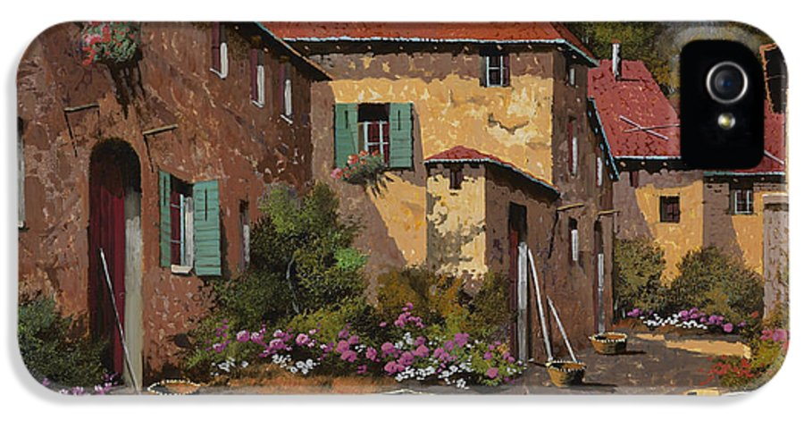 Chariot IPhone 5 Case featuring the painting Il Carretto by Guido Borelli