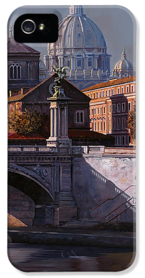 Rome IPhone 5 Case featuring the painting Il Cupolone by Guido Borelli