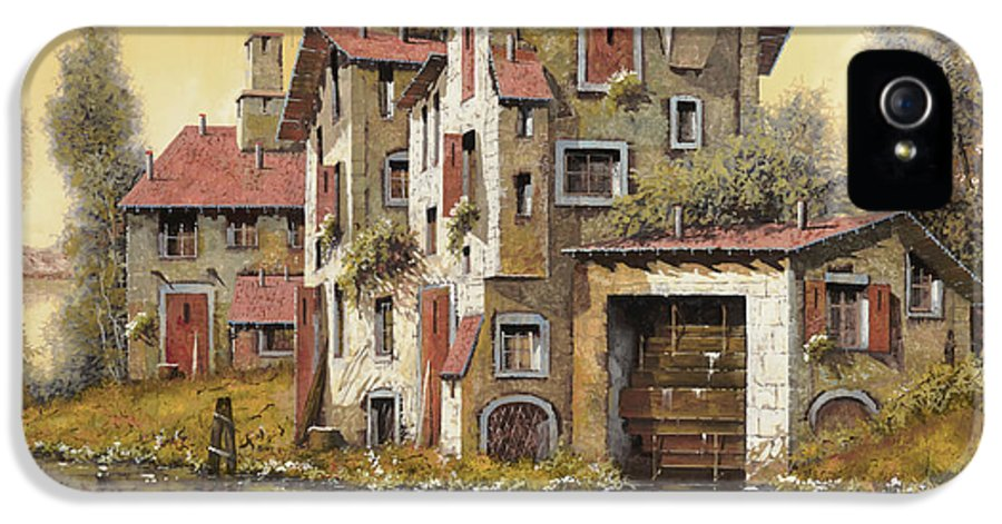 Landscape IPhone 5 Case featuring the painting Il Mulino Giallo by Guido Borelli