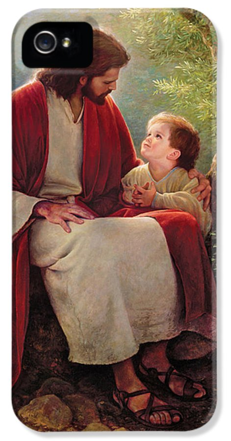 Jesus IPhone 5 Case featuring the painting In His Light by Greg Olsen