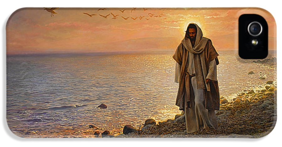Jesus IPhone 5 Case featuring the painting In The World Not Of The World by Greg Olsen