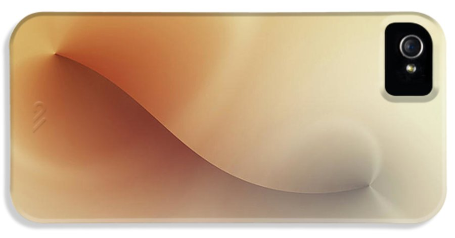 Abstract IPhone 5 Case featuring the digital art Incision by Wim Lanclus