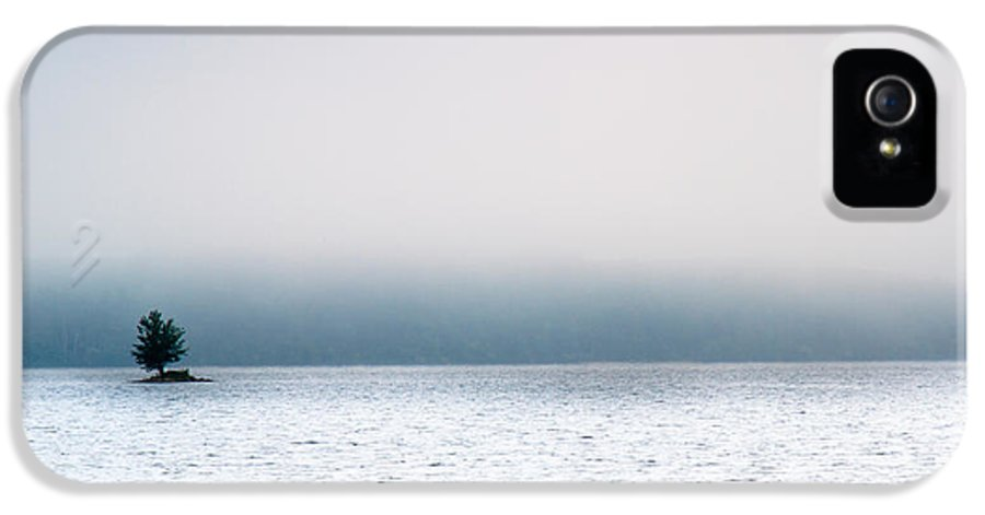 Auburn IPhone 5 Case featuring the photograph Island In The Fog by Bob Orsillo