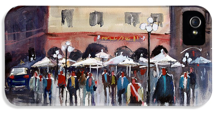 Ryan Radke IPhone 5 Case featuring the painting Italian Marketplace by Ryan Radke