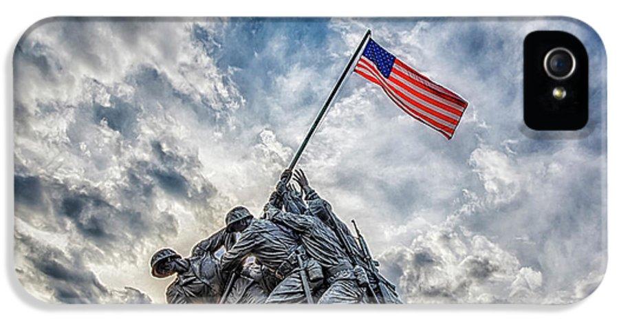 Iwo Jima IPhone 5 Case featuring the photograph Iwo Jima Memorial by Susan Candelario