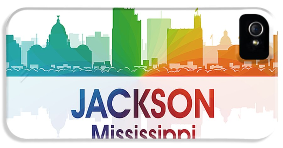 Jackson IPhone 5 Case featuring the digital art Jackson Ms by Angelina Vick