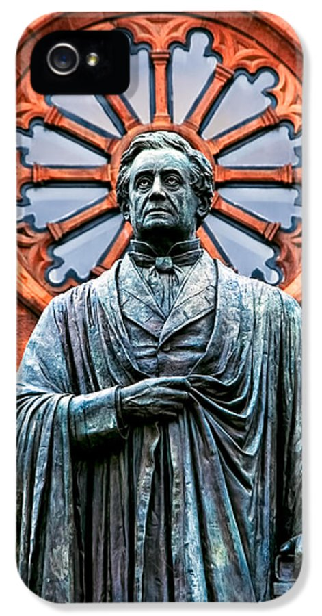 Statue IPhone 5 Case featuring the photograph James Smithson by Christopher Holmes