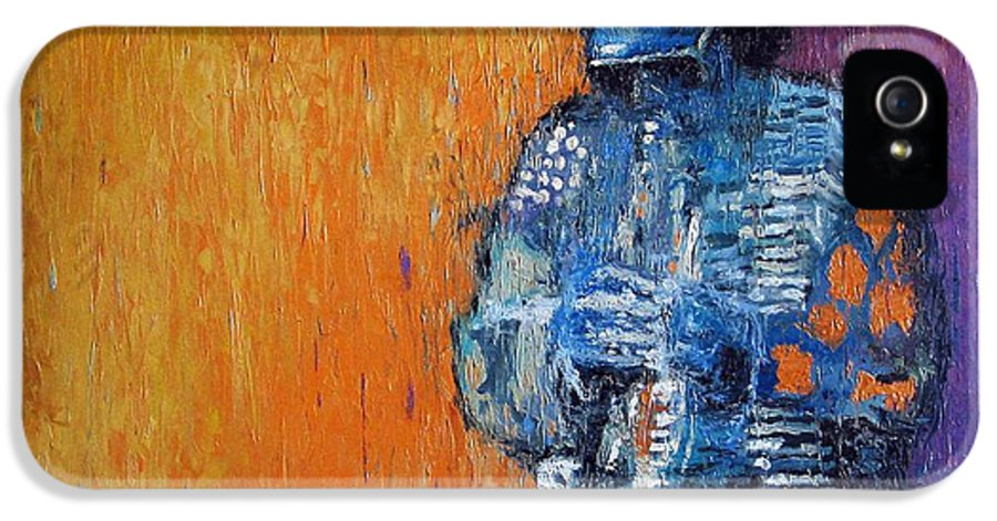 Jazz IPhone 5 Case featuring the painting Jazz Miles Davis 2 by Yuriy Shevchuk