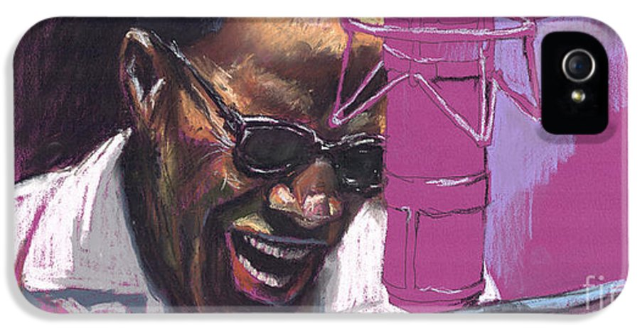 Jazz IPhone 5 Case featuring the painting Jazz Ray by Yuriy Shevchuk