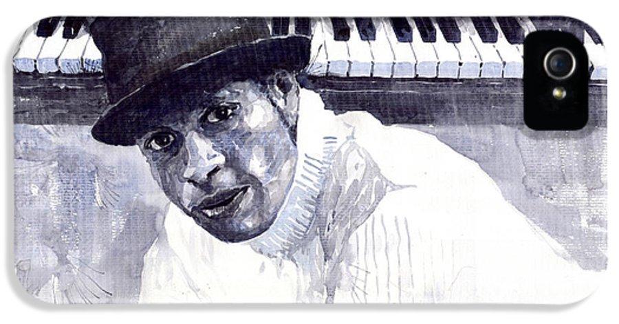 Jazz IPhone 5 Case featuring the painting Jazz Roberto Fonseca by Yuriy Shevchuk