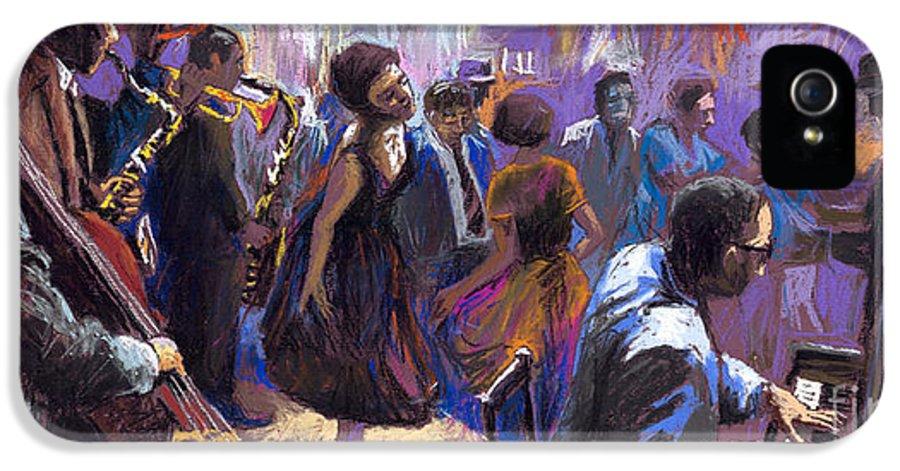 Jazz.pastel IPhone 5 Case featuring the painting Jazz by Yuriy Shevchuk