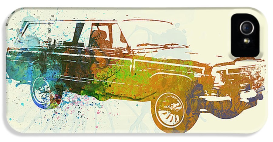 Jeep Wagoneer IPhone 5 Case featuring the painting Jeep Wagoneer by Naxart Studio