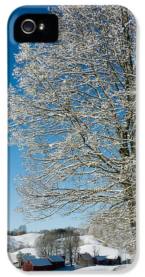 Christmas IPhone 5 Case featuring the photograph Jenne Farm Winter In Vermont by Edward Fielding
