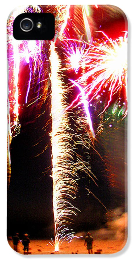 Joe IPhone 5 Case featuring the photograph Joe's Fireworks Party 1 by Charles Harden