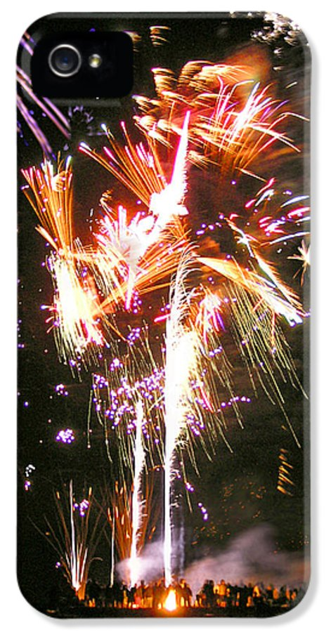 Joe IPhone 5 Case featuring the photograph Joe's Fireworks Party 2 by Charles Harden