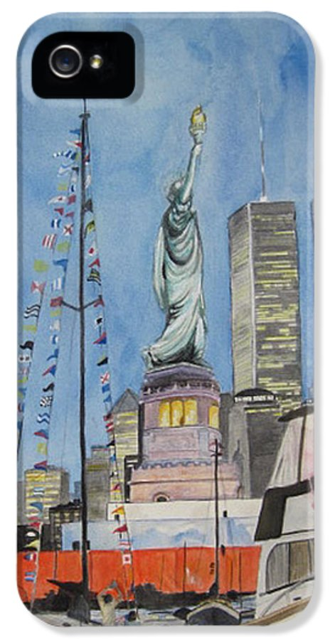 4th Of July IPhone 5 Case featuring the painting July 4th by Judy Riggenbach