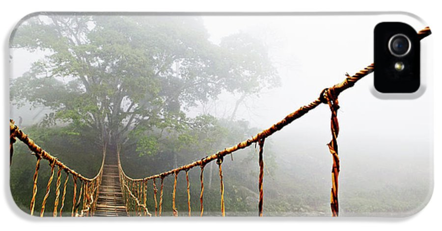 Rope Bridge IPhone 5 Case featuring the photograph Jungle Journey by Skip Nall