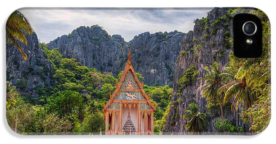 Architecture IPhone 5 Case featuring the photograph Jungle Temple by Adrian Evans