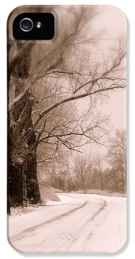 Winter IPhone 5 Case featuring the photograph Just Around The Bend by Carol Groenen