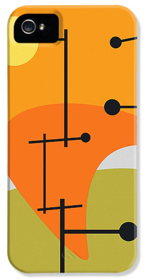 Abstract IPhone 5 Case featuring the digital art Juxtaposing Thoughts by Richard Rizzo