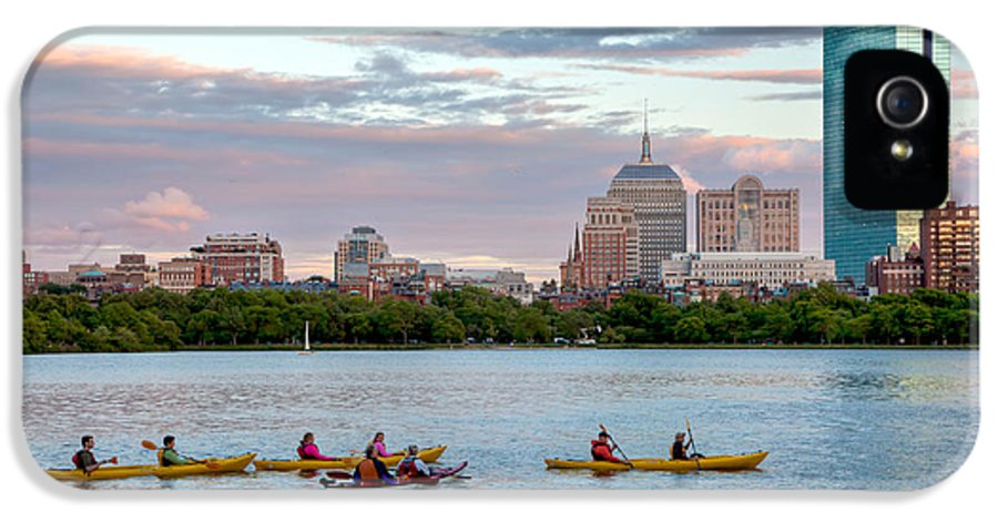Back Bay IPhone 5 Case featuring the photograph Kayaking On The Charles by Susan Cole Kelly