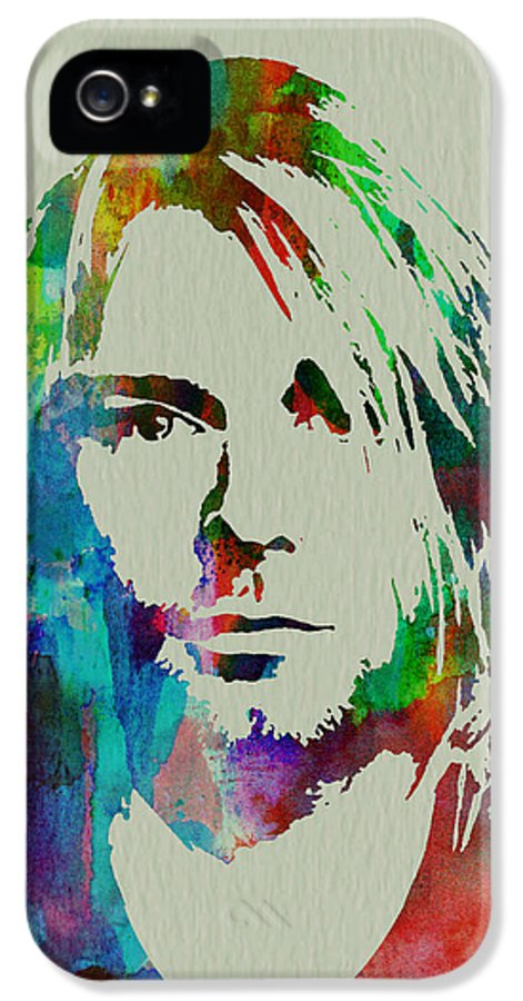 IPhone 5 Case featuring the painting Kurt Cobain Nirvana by Naxart Studio