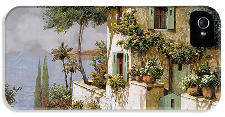 Llandscape IPhone 5 Case featuring the painting La Casa Giallo-verde by Guido Borelli