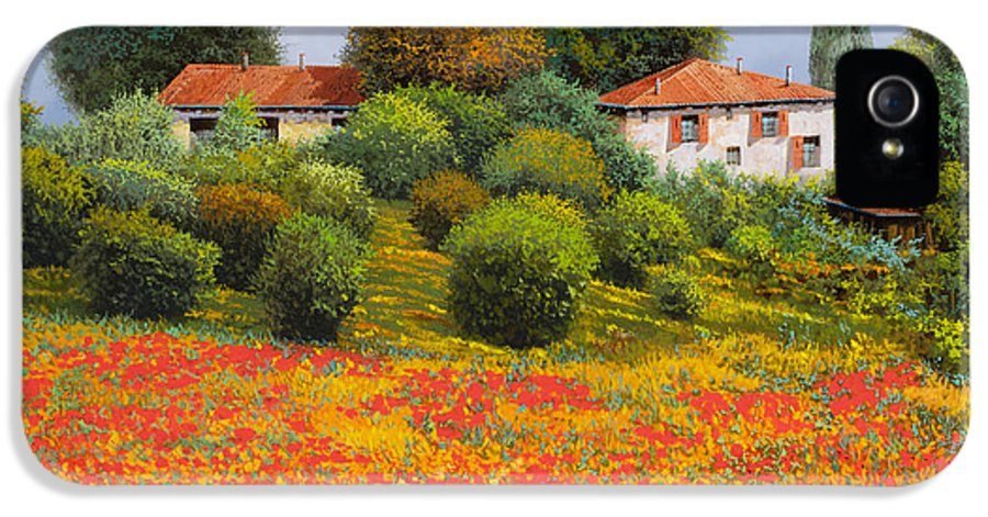Summer IPhone 5 Case featuring the painting La Nuova Estate by Guido Borelli