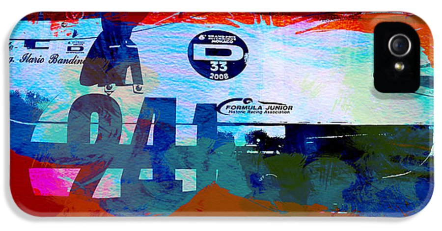 Classic Cars IPhone 5 Case featuring the painting Laguna Seca Racing Cars 1 by Naxart Studio