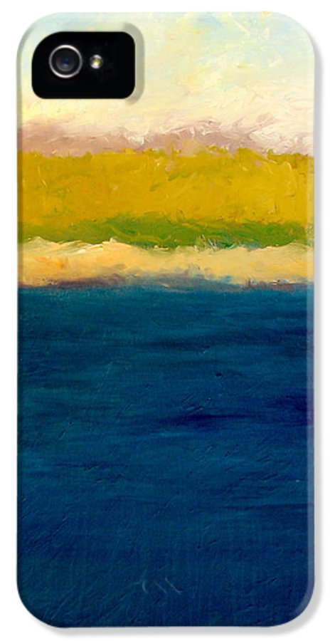 Dunes IPhone 5 Case featuring the painting Lake Michigan Beach Abstracted by Michelle Calkins