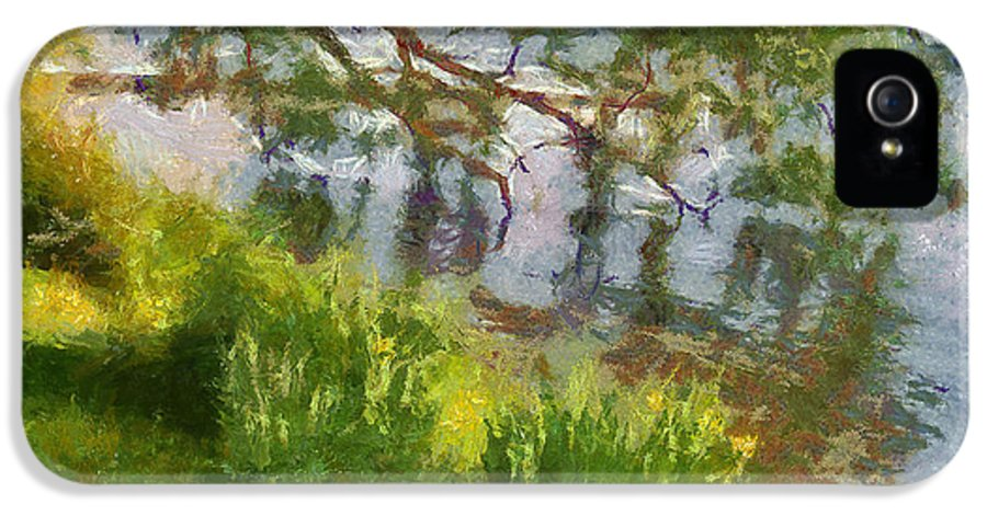 Lake IPhone 5 Case featuring the painting Lakeshore by Anthony Caruso