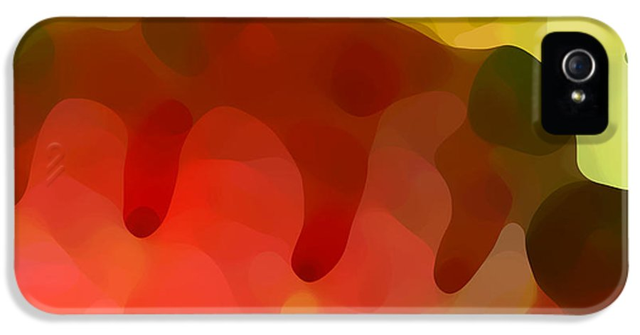 Abstract IPhone 5 Case featuring the painting Las Tunas Ridge by Amy Vangsgard