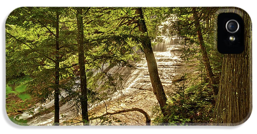 Laughing Whitefish IPhone 5 Case featuring the photograph Laughing Whitefish Falls 2 by Michael Peychich