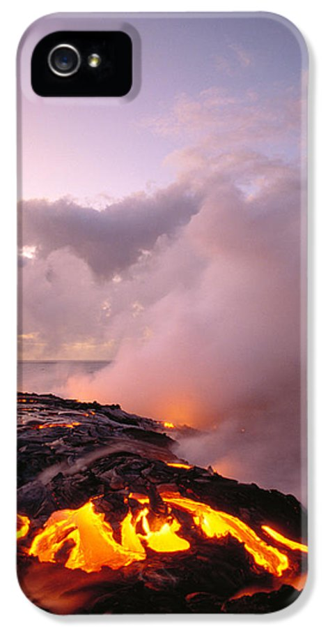 Active IPhone 5 Case featuring the photograph Lava Flows At Sunrise by Peter French - Printscapes