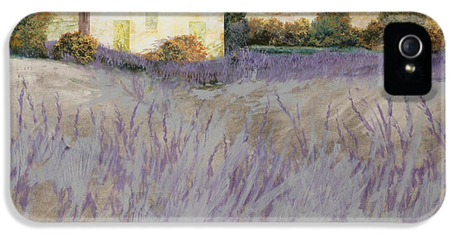 Lavender IPhone 5 Case featuring the painting Lavender by Guido Borelli
