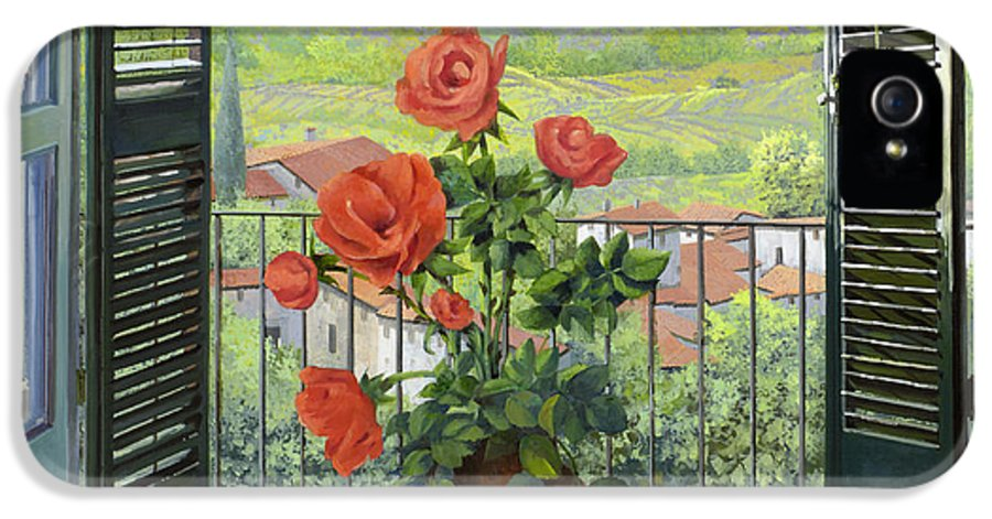 Landscape IPhone 5 Case featuring the painting Le Persiane Sulla Valle by Guido Borelli