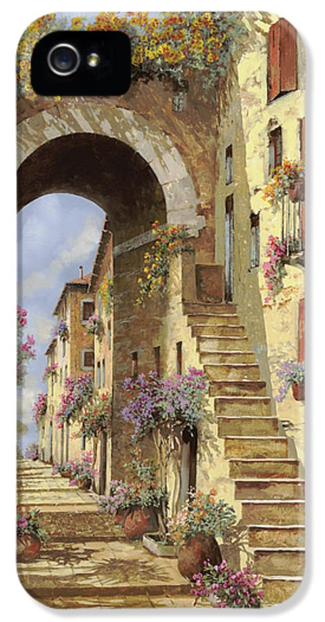 Landscape IPhone 5 Case featuring the painting Le Scale E Un Arco by Guido Borelli