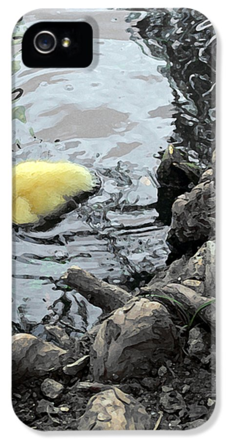 Duck IPhone 5 / 5s Case featuring the photograph Little Ducky 2 by Angelina Vick