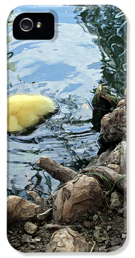Duck IPhone 5 Case featuring the photograph Little Ducky by Angelina Vick