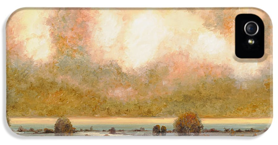 Pond IPhone 5 Case featuring the painting Lo Stagno Sotto Al Cielo by Guido Borelli