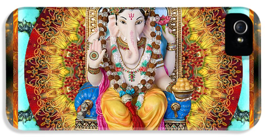 Ganesh IPhone 5 Case featuring the photograph Lord Generosity by Bell And Todd