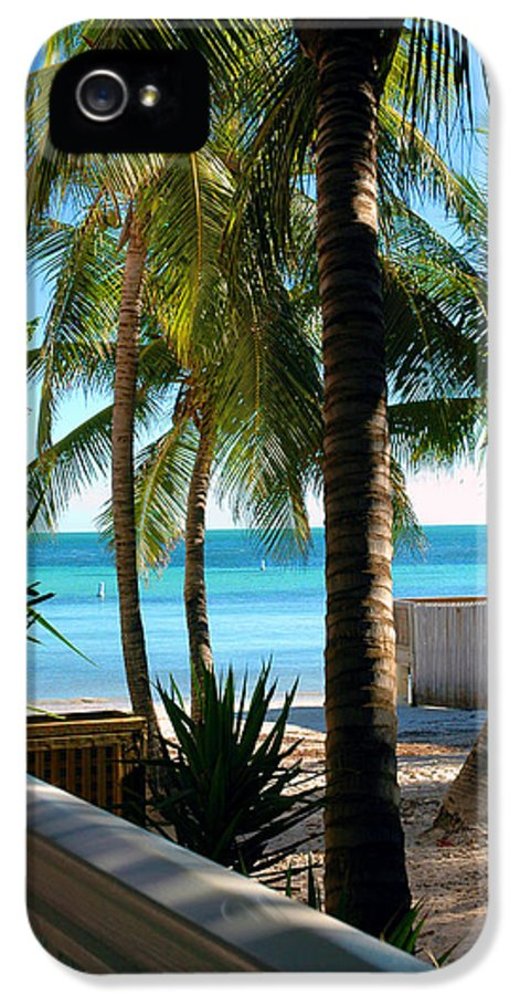 Photos Of Key West IPhone 5 Case featuring the photograph Louie's Backyard by Susanne Van Hulst