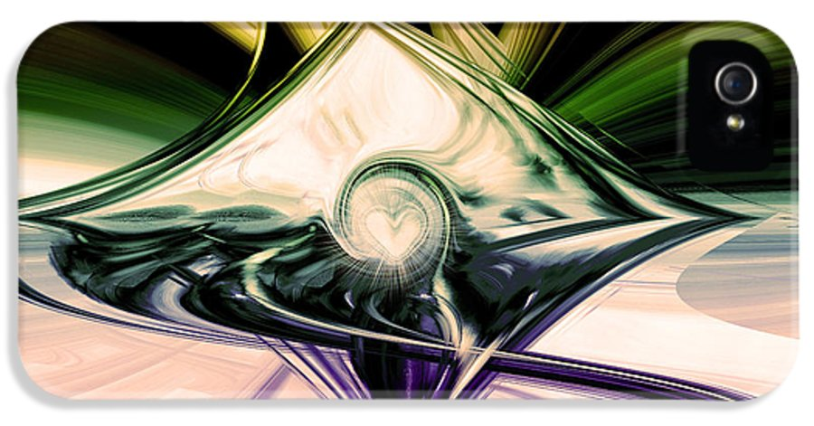 Digital Art IPhone 5 Case featuring the digital art Love And Light by Linda Sannuti