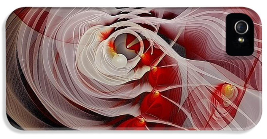 Fractal IPhone 5 Case featuring the digital art Love Is Like A Fire by Gayle Odsather